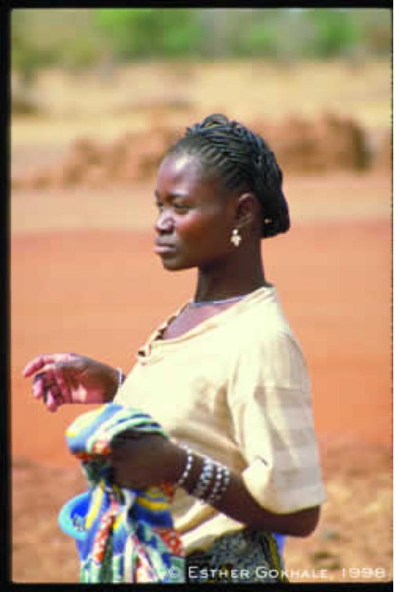 African Woman beautiful posture