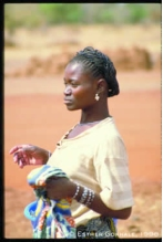 African Woman beautiful posture